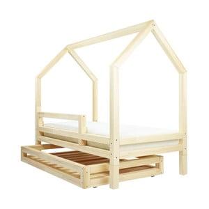 Set prírodnej zásuvky a 4 prídavných nôh k posteli Benlemi Funny, 80 x 160 cm