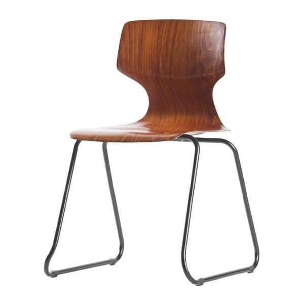 Sada 2 hnedých stoličiek so sedadlom z borovicového dreva De Eekhoorn Donna
