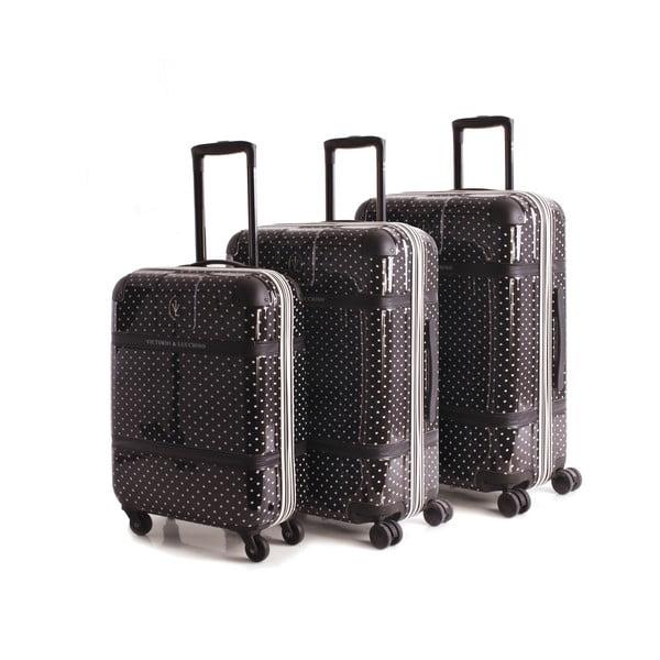 Set 3 cestovných kufrov Lucchino Negro
