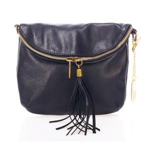 Čierna kožená kabelka Federica Bass Lesuth