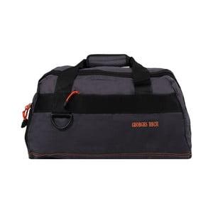 Sivá taška s oranžovými detailmi Blue Star Murcie, 34 litrov