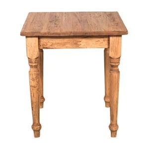 Drevený jedálenský stôl Biscottini Essen, 70 x 70 cm