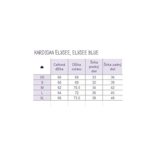 Kardigan Elysee Blue, veľkosť S