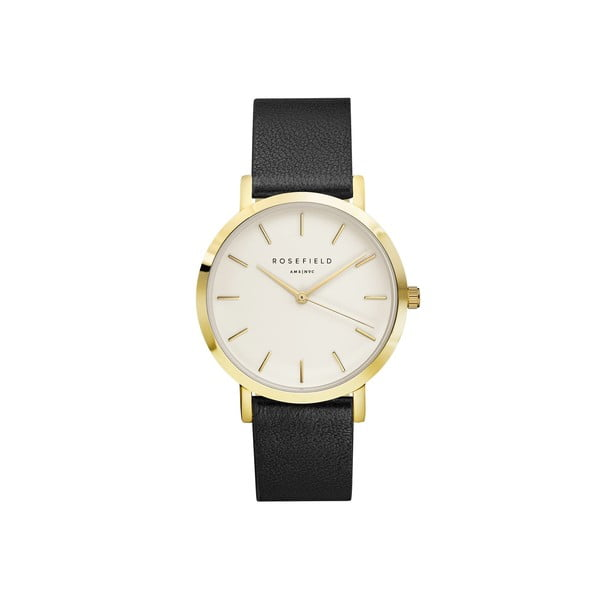 Zlato-čierne dámske hodinky Rosefield The Gramercy