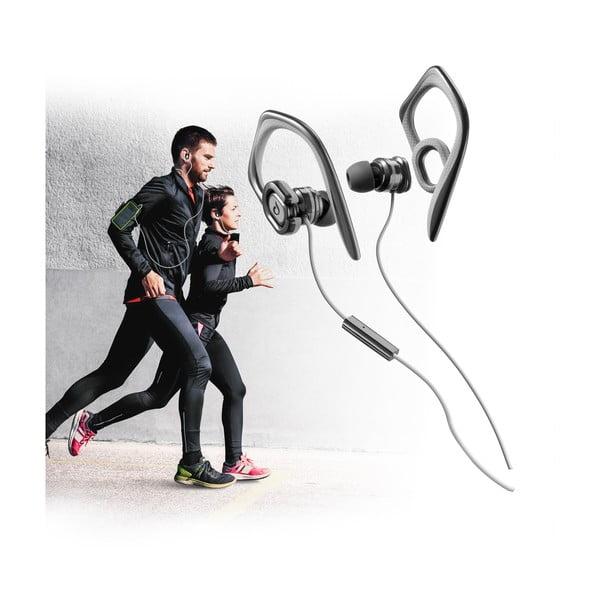 Športové slúchadlá CellularLine GRASSHOPPER s mikrofónom, čierna