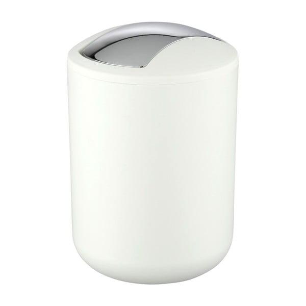Biely odpadkový kôš Wenko Brasil, 21 cm