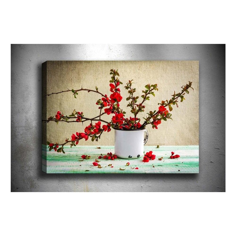 Nástenný obraz na plátne Tablo Center Red Flowers, 40 × 60 cm