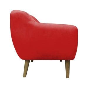 Červené kreslo Mazzini Sofas Sardaigne, svetlé nohy