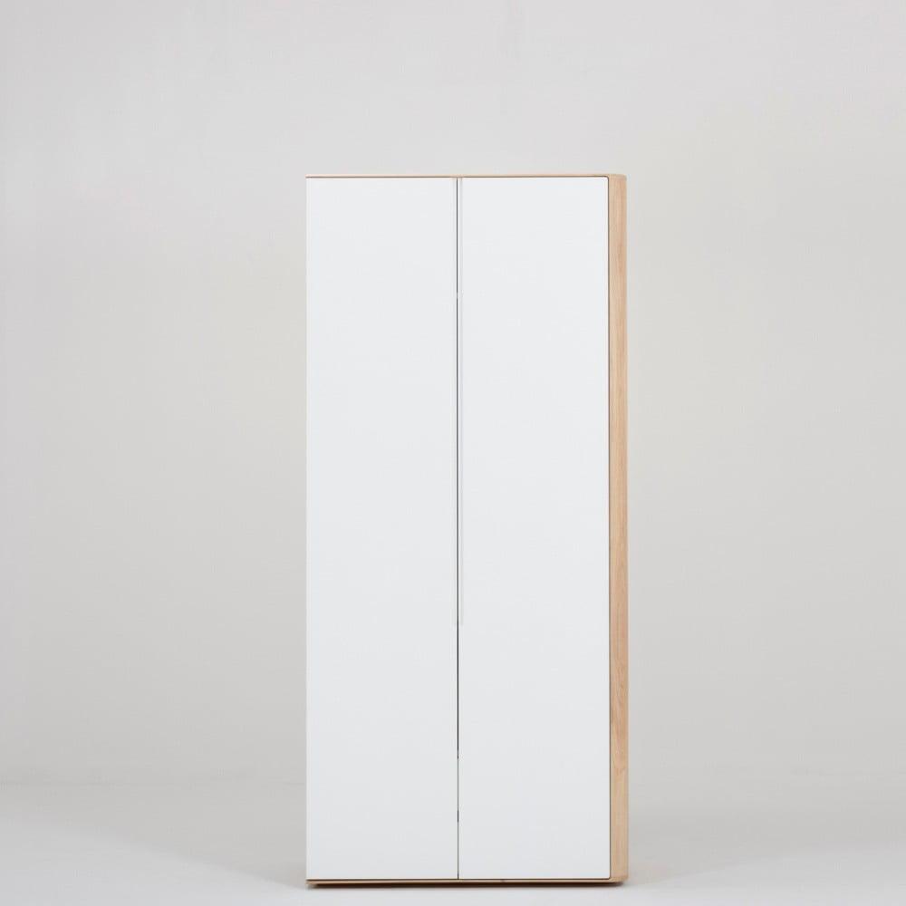 Modulový diel skrine s konštrukciou z dubového masívu s 2 zásuvkami Gazzda Ena, pripevnenie vpravo