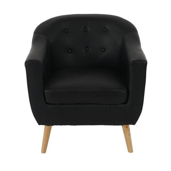 Kreslo Vaasa Lounge Black Leather
