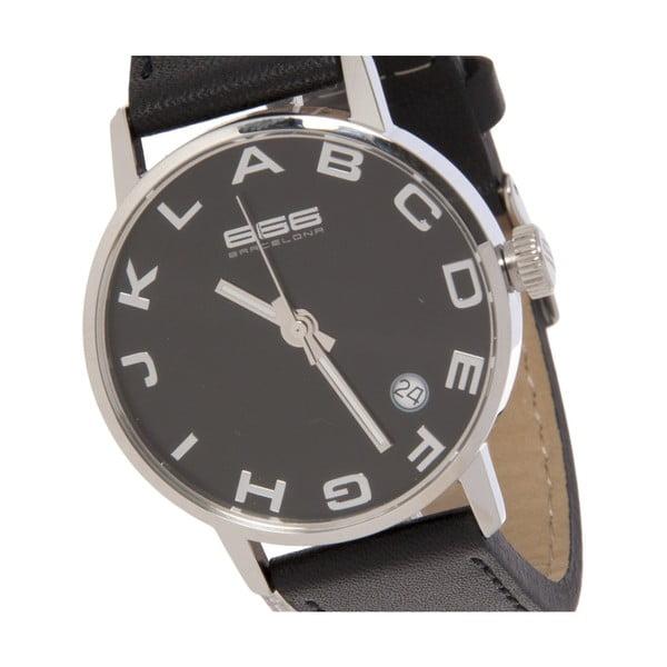 Hodinky Alphabet Lady Leather Black/Silver