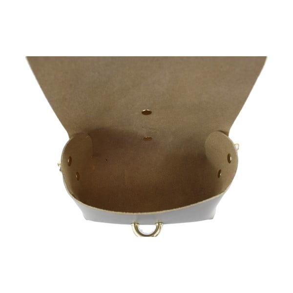 Kožená kabelka cez rameno Slaygie, taupe