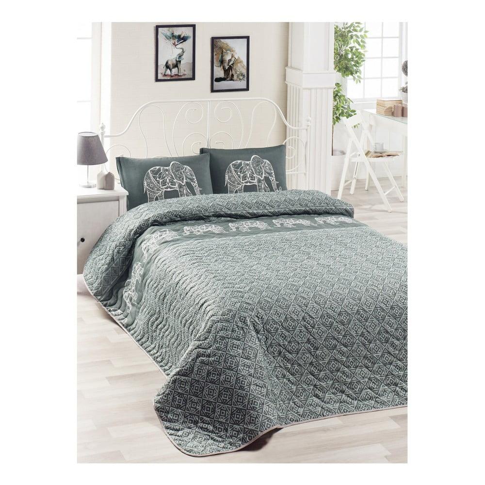 Set prikrývky cez posteľ a 2 obliečok na vankúše Lesso Cara, 200 × 220 cm