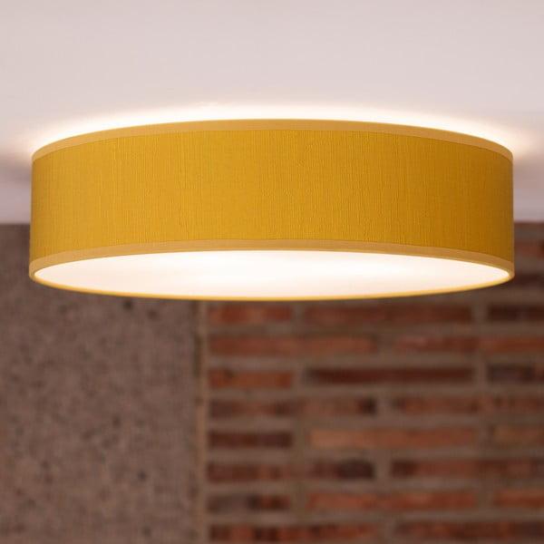 Žlté stropné svietidlo Bulb Attack Doce, ⌀40 cm