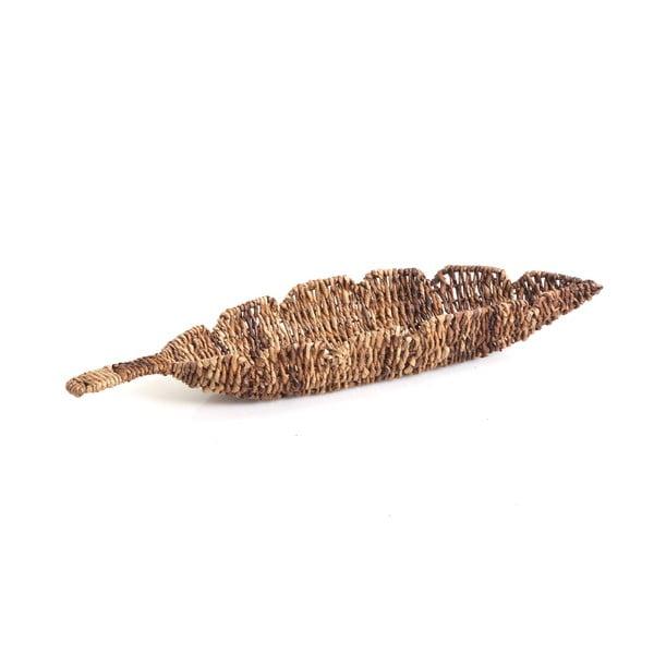 Prútená miska Leaf, 61 cm