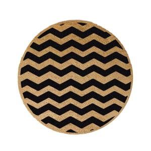 Guľatá rohožka Artsy Doormats Chevron, ⌀ 70 cm