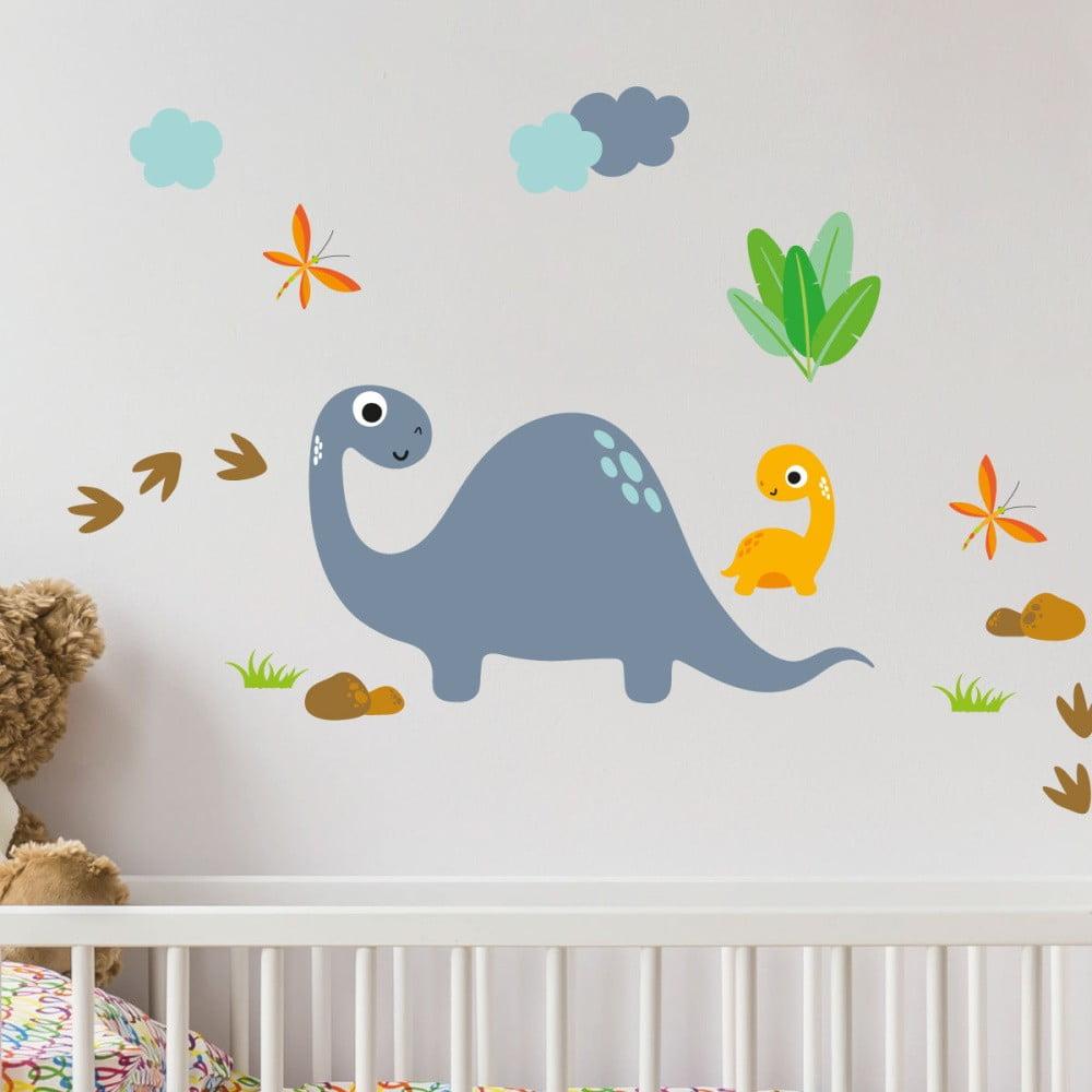 Nástenné detské samolepky Ambiance Cute Dinosaurus Stickers