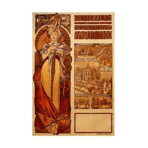 Obraz Alfons Mucha Austria, 90x60 cm