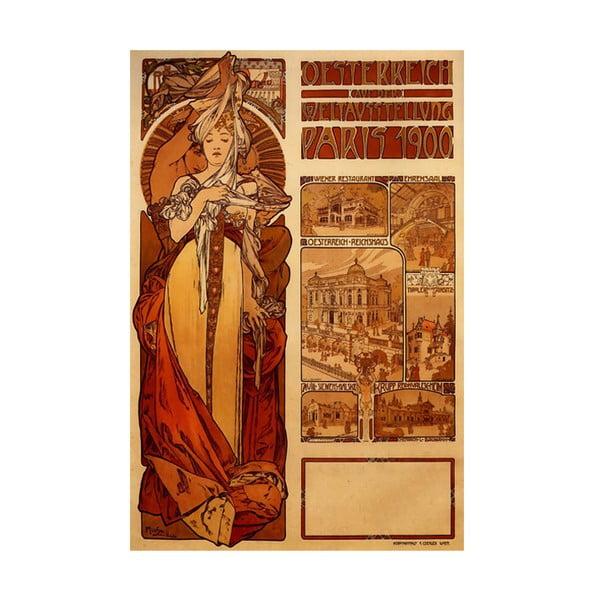 Obraz Alfons Mucha Austria, 40x26 cm