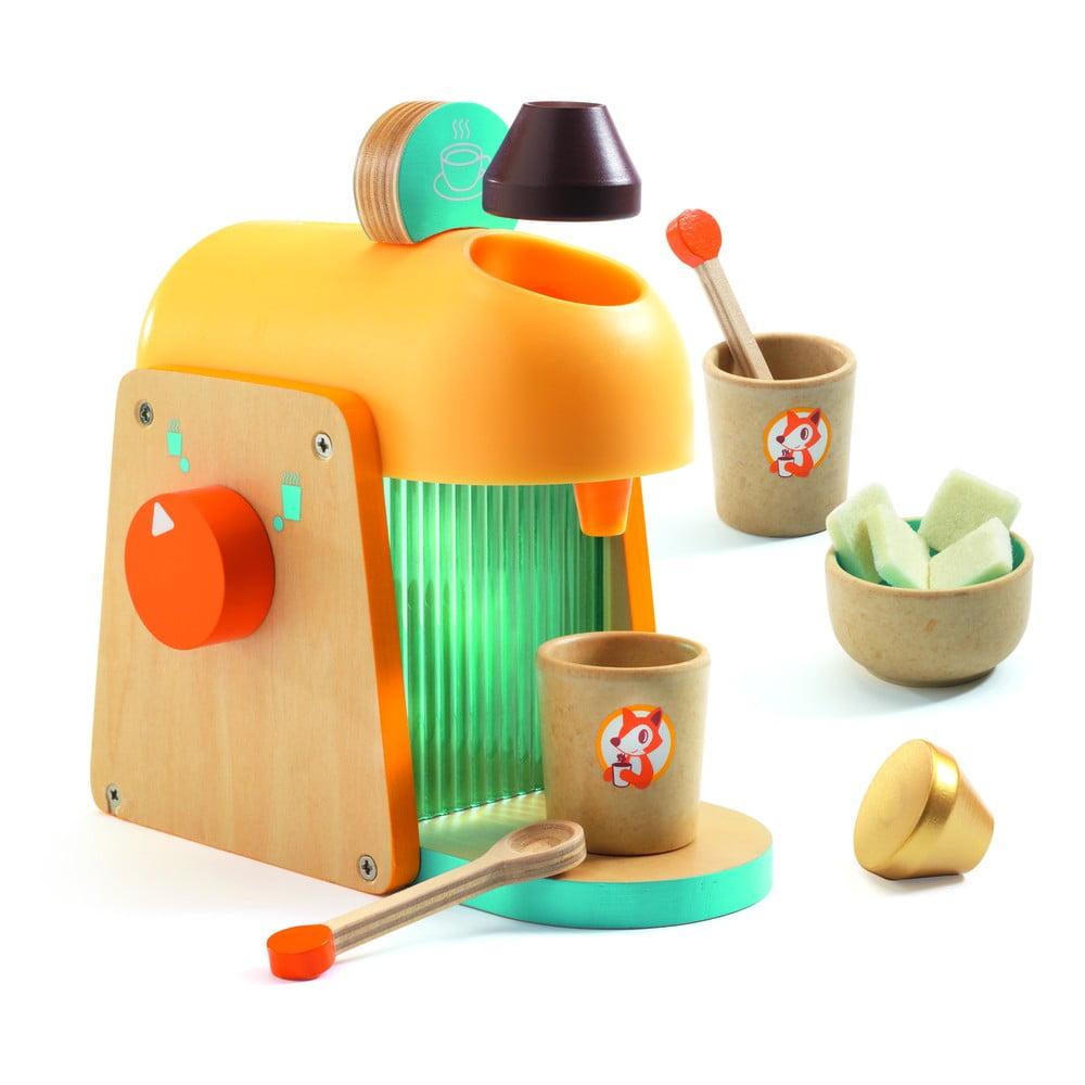 Set detského dreveného kávovaru a príslušenstva Djeco Espresso