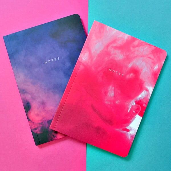 Sada 2 zápisníkov A5 Portico Designs Purples Abstract