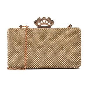 Listová kabelka v zlatej farbe Renata Corsi Queen