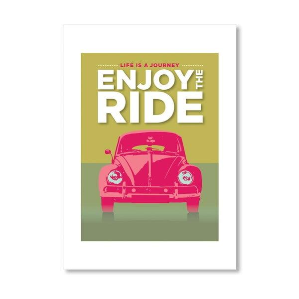 Autorský plagát Enjoy the Ride VWB