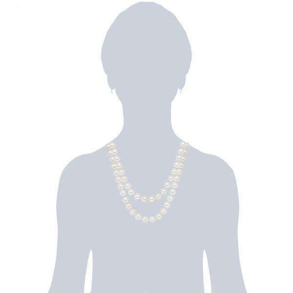 Náhrdelník s bielymi perlami⌀12 mm Perldesse Muschel, dĺžka 120 cm