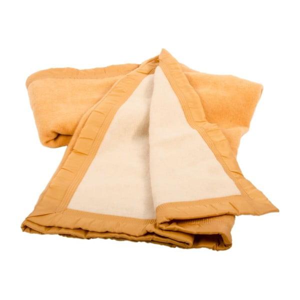 Vlnená deka Sarrazi Yellow, 180x220 cm