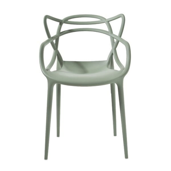 Zelená jedálenská stolička Kartell Masters