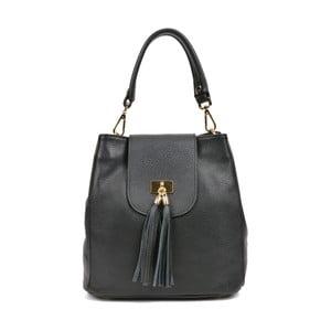Čierna kožená kabelka Luisa Vannini Mirma