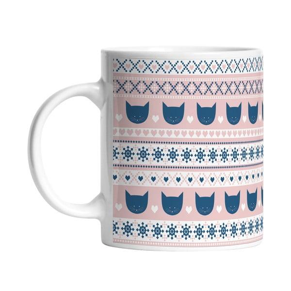 Keramický hrnček Blue and Pink, 330 ml