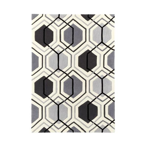 Koberec Flat 90x150 cm, sivý