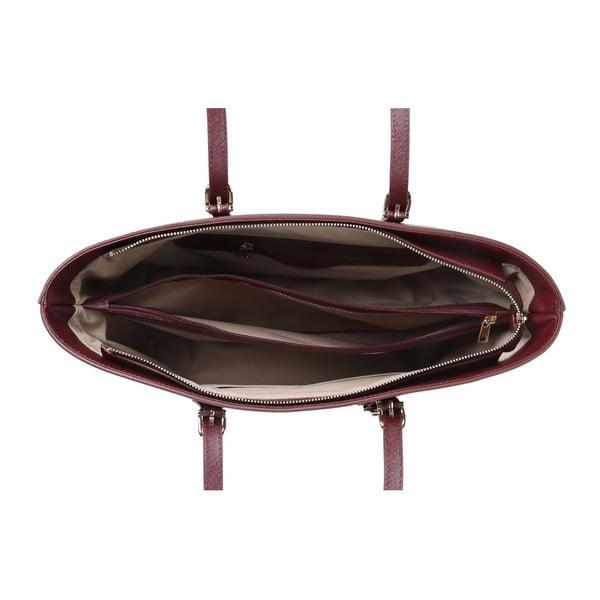 Tmavočervená kabelka z eko kože Beverly Hills Polo Club Anne