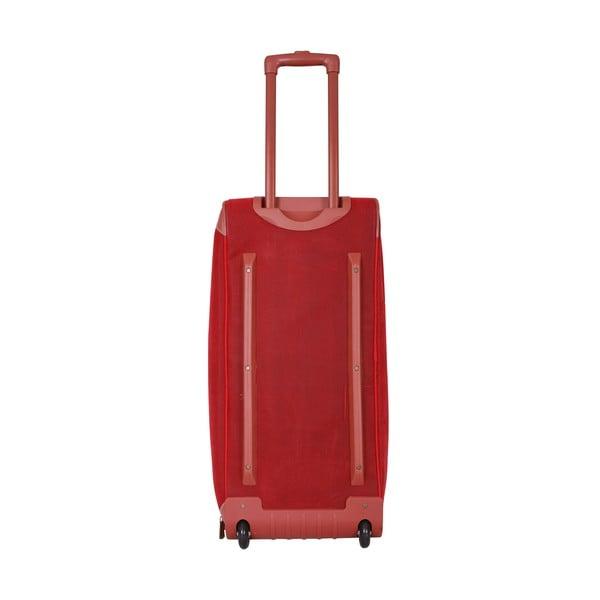 Cestovná taška na kolieskach Jean Louis Scherrer Red, 76.5 l