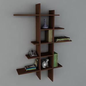 Polica Atlanta Book Wenge, 22x90x150 cm