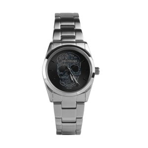 Unisex hodinky striebornej farby s čiernym ciferníkom Zadig & Voltaire Scully, 33 mm