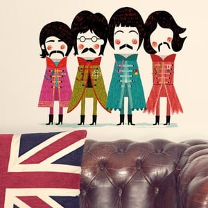 Dekoratívna samolepka na stenu The Beatles