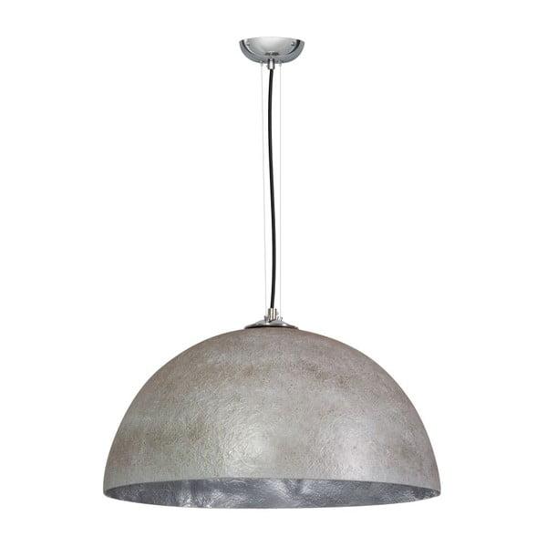 Sivo-strieborné stropné svietidlo ETH Mezzo Tondo, ⌀50cm