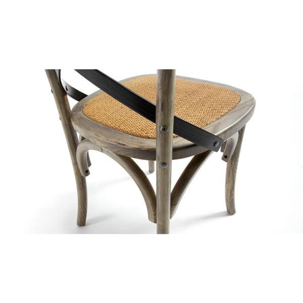 Stolička  Silena, sivá/prírodná