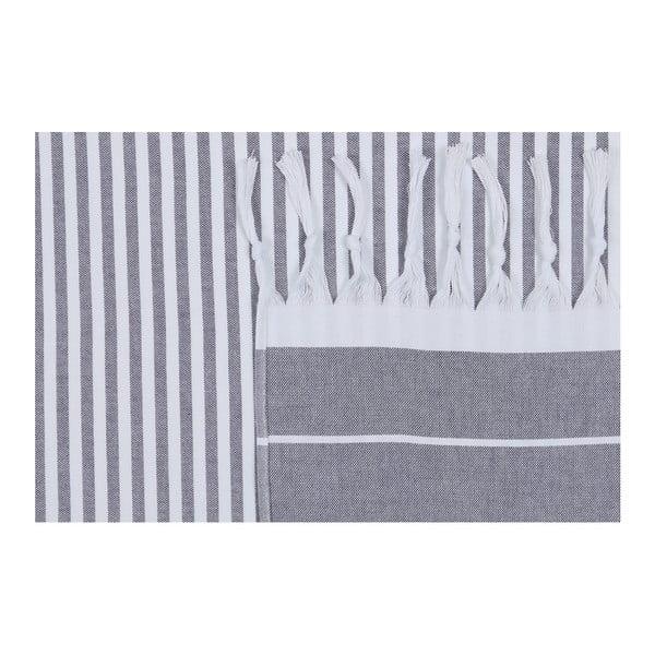 Námornícky modrá plážová osuška Fouta, 170 x 100 cm