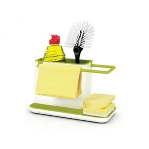 Bielo-zelený kuchynský stojanček na umývacie prostriedky Joseph Joseph Caddy Sink Tidy