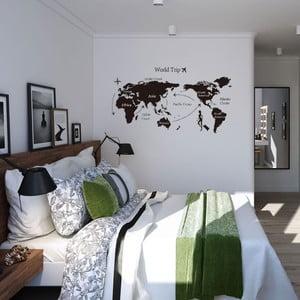 Dekoratívna samolepka World Trip, 140x80 cm