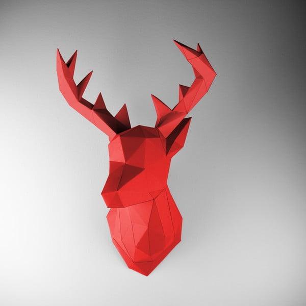 Papierová trofej Jeleň, červený