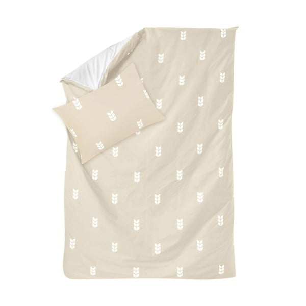 Béžové obliečky Hawke & Thorn Finch Straw, 150 x 200 cm + vankúš 50 x 60 cm