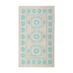 Tyrkysový bavlnený koberec Floorist Oni, 120x180cm