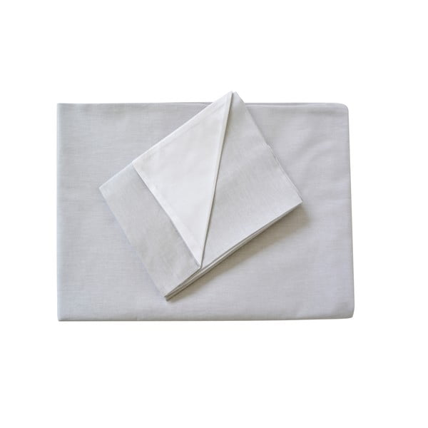 Sivé obliečky Hawke & Thorn Parker Simple, 240 x 220 cm + 2 x vankúš 50 x 60 cm
