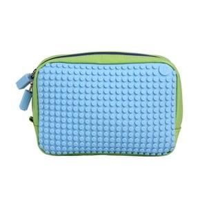 Pixelová príručná taštička, green/baby blue
