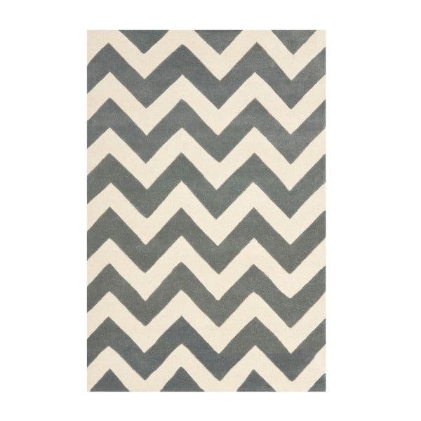 Vlnený koberec Crosby Middle Grey, 121x182 cm
