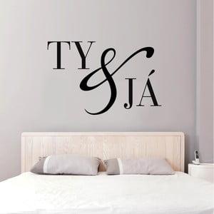 Samolepka na stenu Ty a Ja